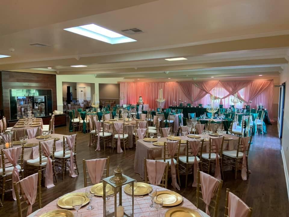 Interior shot of the ballroom at Riverlands